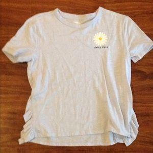 "Baby blue ""Daisy Daze"" shirt"